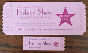fashion show ticket template - 135 best images about kaylee 39 s birthday on pinterest