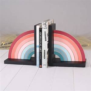 Hand, Painted, Rainbow, Bookend, By, Bombus