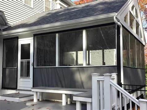clear vinyl plastic panel enclosures  porch patio