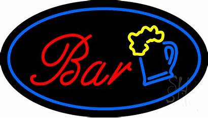 Neon Bar Border Signs Beer Animated Giant