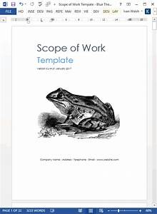 project scope statement template scope of work template ms word excel templates forms