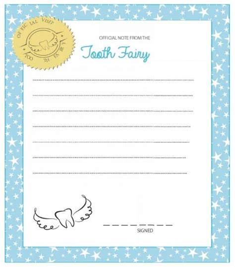 37 Tooth Fairy Certificates & Letter Templates Printable