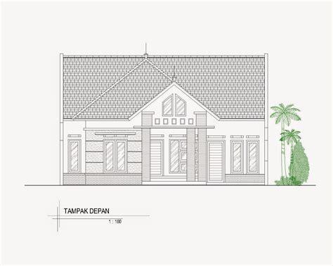 contoh gambar tampak rumah minimalis menggunakan autocad