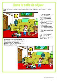 picture description  living room   worksheet