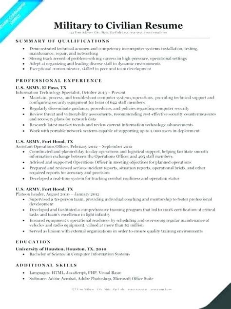 Resume Templates Veterans Resume help templates