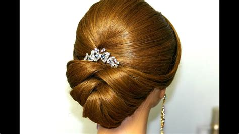 wedding hairstyle  medium long hair bridal updo youtube
