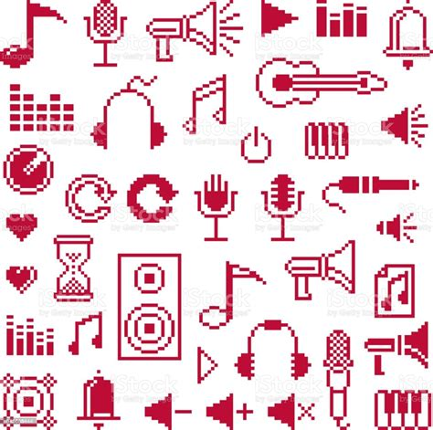 I understand that bow markings are important in orchestral music, one reason being to keep players in sync visually. Set Of Vector Musical Notes Retro Signs Made In Pixel Art ...