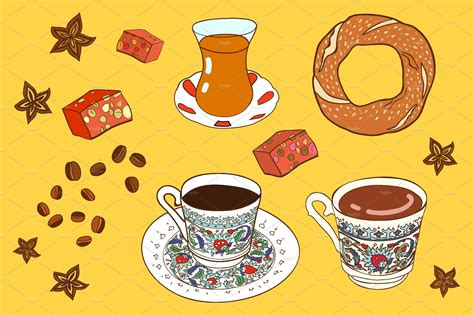 Check out our coffee illustration selection for the very best in unique or custom, handmade pieces from our искусство и коллекционирование shops. Vector turkish coffee and tea. ~ Illustrations ~ Creative Market