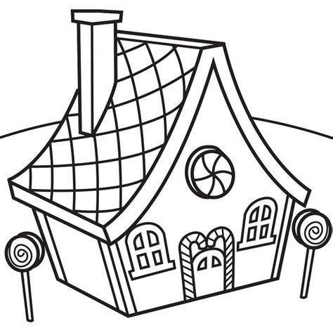 gingerbread house coloring pages    clipartmag