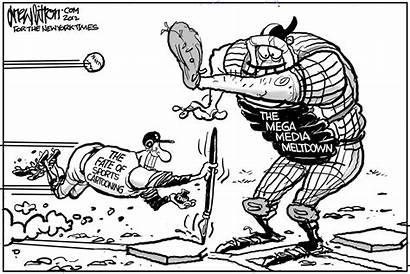Sports Times York Cartoon Paper Cartooning Ink