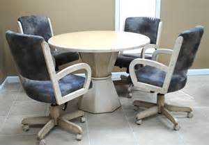 tobias designs dinette with round table 260 caster chairs