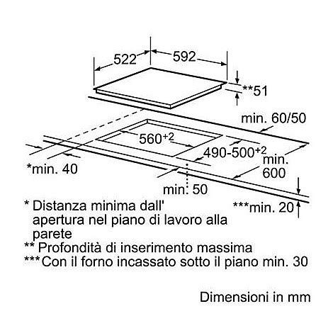 Piano Cottura Induzione Bosch Pia611b68j by Pia611b68j Bosch Piano Induzione 60 Cm Piani Cottura