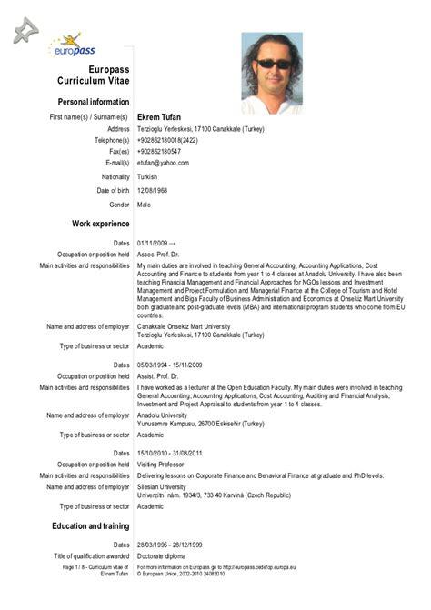 Europass Cv28092012 Tufan. Cover Letter Template For Design Job. Curriculum Vitae Ejemplo Word Basico. Cover Letter For Cv Microsoft Word. Ejemplos De Curriculum Vitae Perfil Profesional