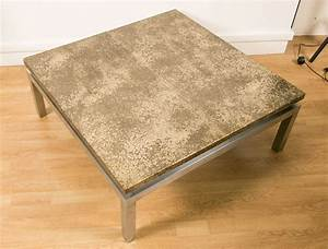 1970s large square coffee table for sale at 1stdibs With big coffee tables for sale