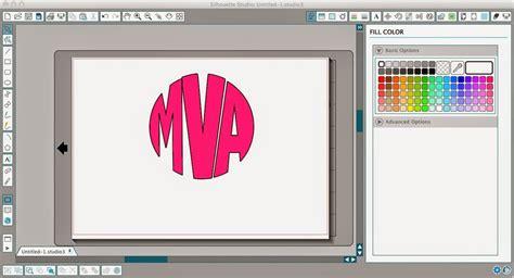 silhouette circle monogram tutorial  font choice silhouette school