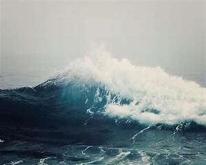 Nautical Sea Wave Photograph Stormy Sea Nay Blue Nautical