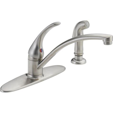 no water in kitchen sink delta faucet water pressure low 7113