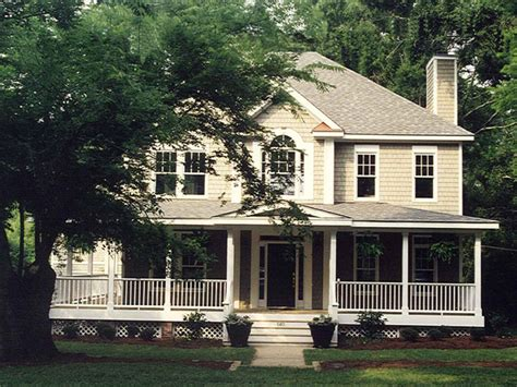 Two Story House With Wrap Around Porch by Summerhill Country Farmhouse Plan 053d 0056 House Plans