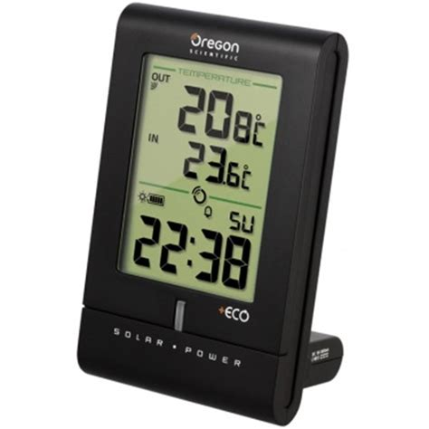 thermometre interieur exterieur sans fil voiture oregon thermom 232 tre int 233 rieur ext 233 rieur solaire sans fil