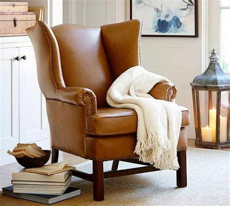 Living Room Chairs Pottery Barn by Living Room Chair Idea Set Of 2 Thatcher Leather