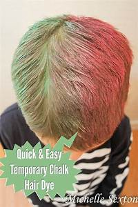 Quick And Easy Temporary Hair Dye Using Chalk Click
