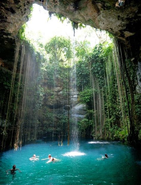ik kil cenote yucatan mexico  pic awesome pictures