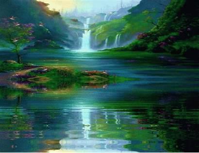 Animated Water Gifs Waterfalls Scenery Animation Paisajes