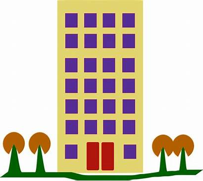 Building Clipart Complex Tall Houses Housing Graphic