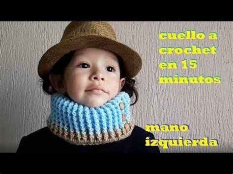 cuello para hombre a crochet paso a paso tutorial para zurdos cuello reversible