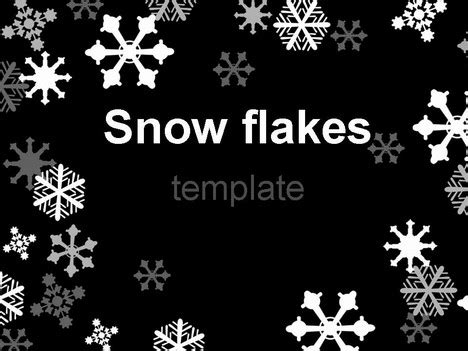 Snowflake Background Black And White by Snowflake Template On Black