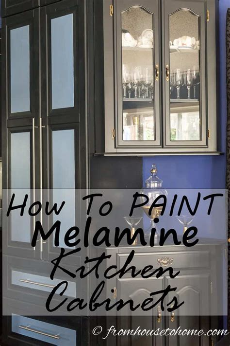 painting melamine kitchen cabinet doors how to paint melamine kitchen cabinets 7349