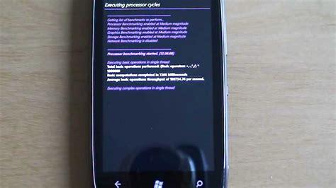 nokia lumia 610 benchmark windows phone 7 5