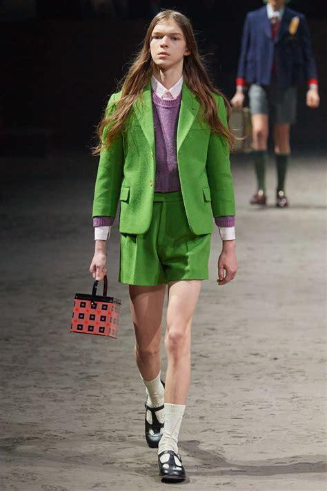 gucci fall menswear fashion show denim
