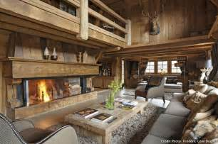 m design kamin esprit rustique dans un chalet des alpes maison créative