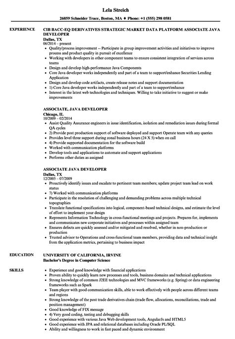 2 years experience resume for java developer the best
