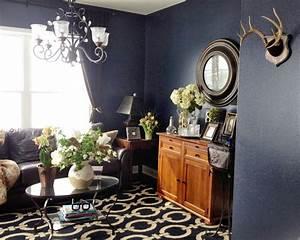 Love The Textured Dark Blue Walls In Benjamin Moore