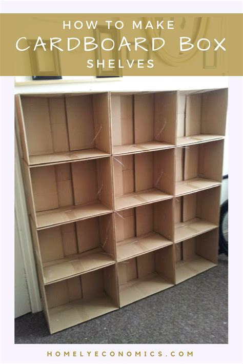 how to make a bookcase how to make cardboard box shelves