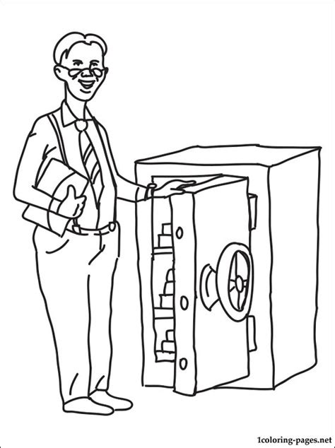 Banker Coloring Page  Coloring Pages