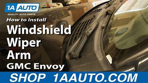install replace windshield wiper arm   gmc