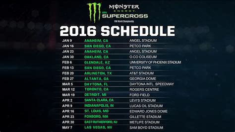 2015 ama motocross schedule 2015 monster energy supercross schedule car interior design