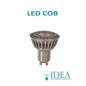 lampadina led gu10 6w COB 2700K 220V dimmerabile