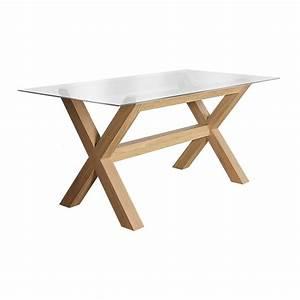Table En Verre Rectangulaire : table rectangulaire avec plateau en verre brin d 39 ouest ~ Teatrodelosmanantiales.com Idées de Décoration