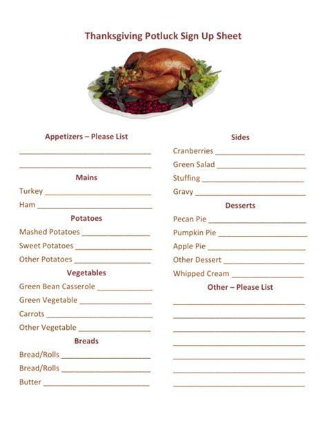 thanksgiving potluck sign  printable hmh designs