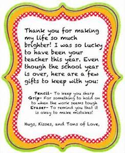 A simple & sweet goodbye t letter to give to students