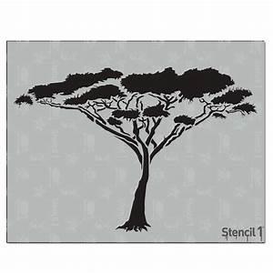 Stencil1, Acacia, Tree, Stencil-s1, 01, 125