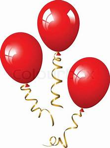 Red balloons Stock Vector Colourbox