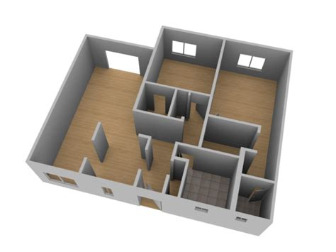 building template blender create a 3d floor plan model from an architectural