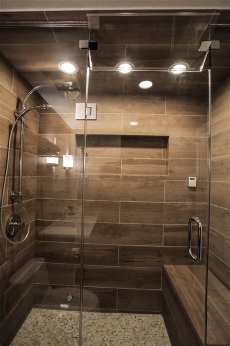Spa Bathroom Showers by Contemporary Spa Shower With Heated Bench