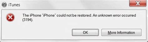 the iphone could not be restored 3194 itunes error 3194 in windows fixed it services and