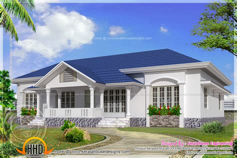 beautiful single storied  bed room villa kerala home